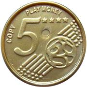 5 Euro Cent – Play Money – avers