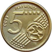 5 Euro Cent – Play Money – revers