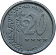 20 Euro Cent – Play Money – revers