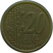 20 Euro Cent (Play Money) – revers