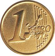 Jeton euro 1999-2002 Spécimen - 1 euro – avers