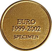 Jeton euro 1999-2002 Spécimen - 1 euro – revers
