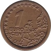1 Cent (CE Logo) – avers