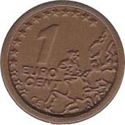 1 Cent (CE Logo) – revers