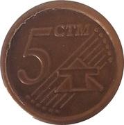 5 CTM Cent (Play Money) – avers