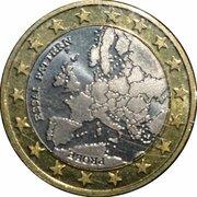 1 Euro (Euro Probe Essai Pattern - Euro Enlargement) – avers