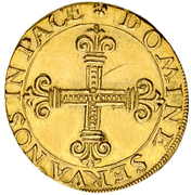 1 Goldkrone (Small shield) – revers