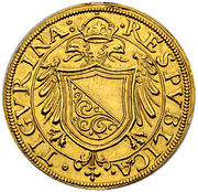 1 Goldkrone (Large shield) – avers