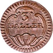 3 haller – revers