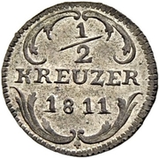 ½ Kreuzer – revers