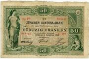 50 francs (Zürcher Kantonalbank)