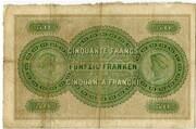 50 francs (Zürcher Kantonalbank) -  avers