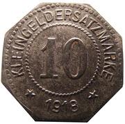 10 pfennig - Zwickau – revers