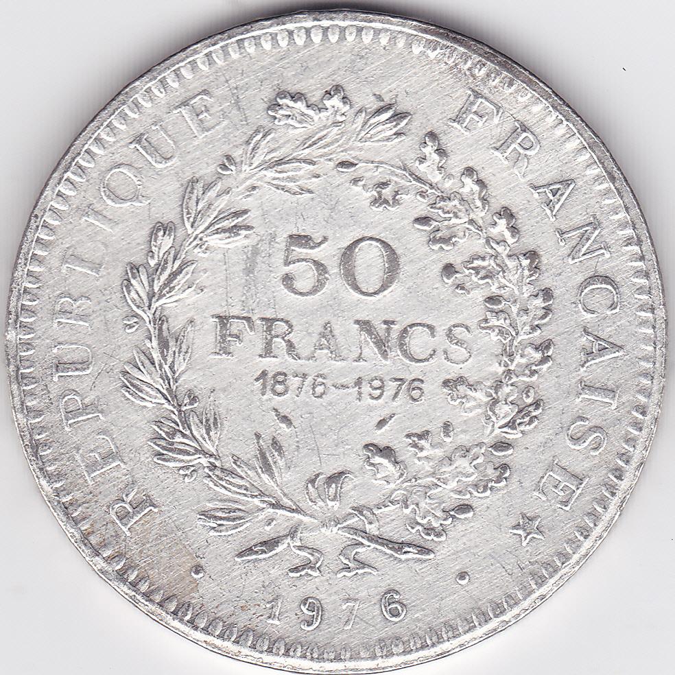 Piece De 50 Francs Hercule 1976 Eventuellement Fausse Numista