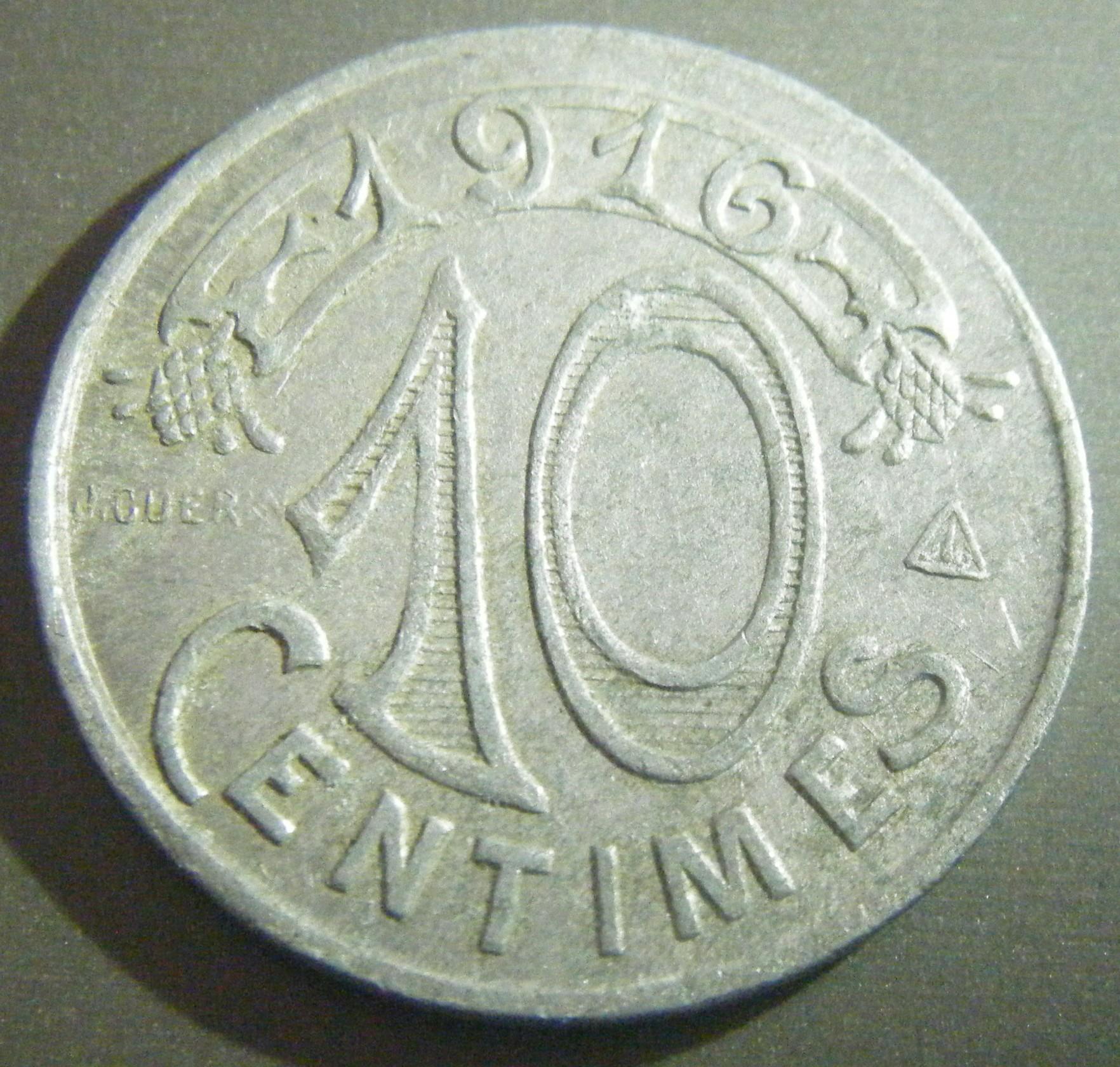 R solu 10 centimes chambre de commerce marseille vari t numista - Chambre des commerce marseille ...
