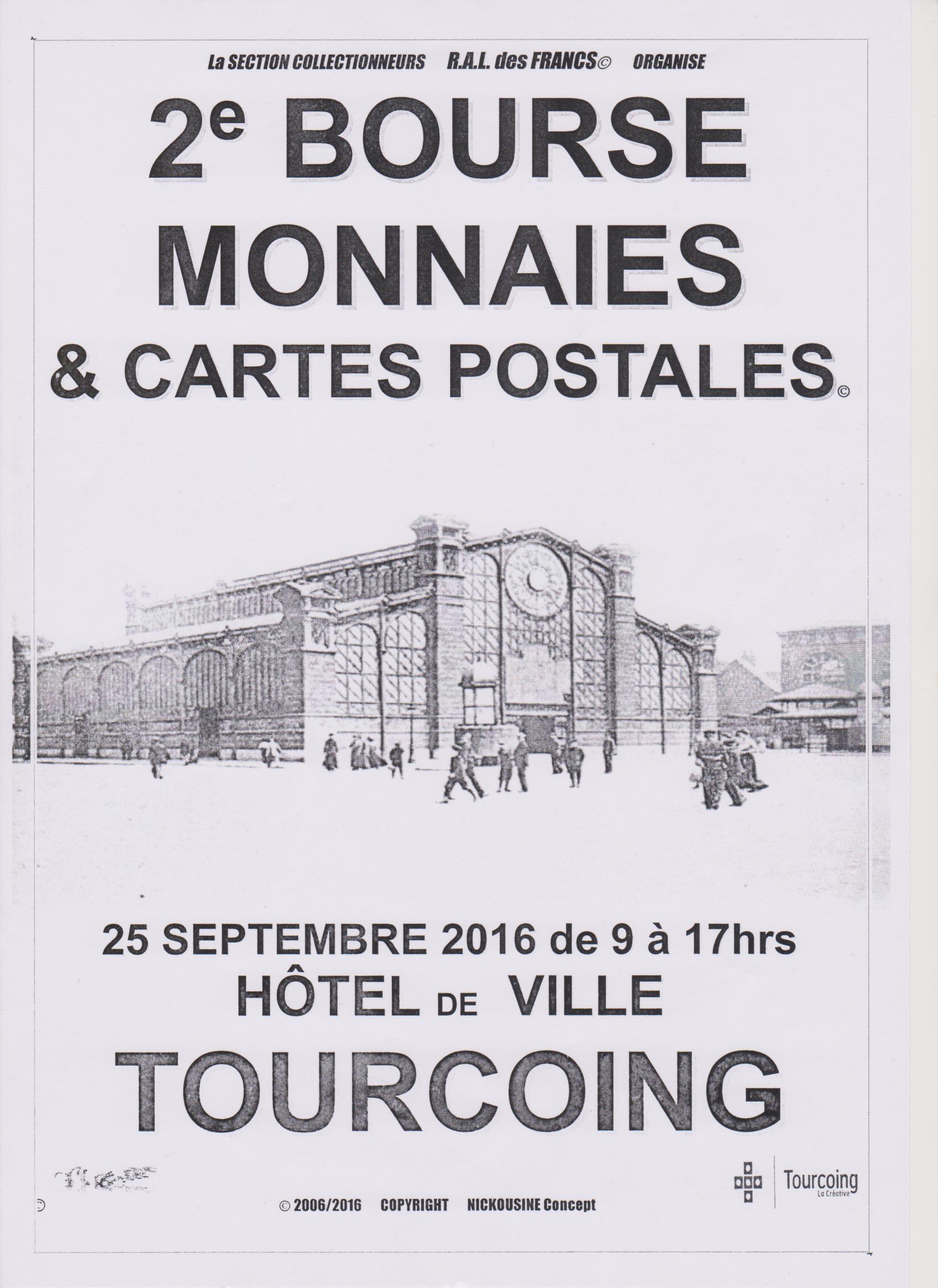 2ème Bourse aux Monnaies et Cartes postales, Tourcoing - Numista