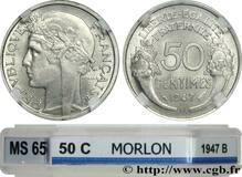Photo 1 d'une vente de 50 centimes Morlon (Aluminium, légère (0.7g))