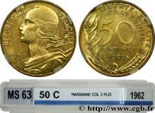 Photo 1 d'une vente de 50 centimes Marianne (Cupro-aluminium)