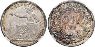 Photo 1 d'une vente de 5 francs Helvetia assise