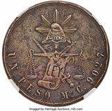 Photo 1 d'une vente de 1 peso (Essai en cuivre)